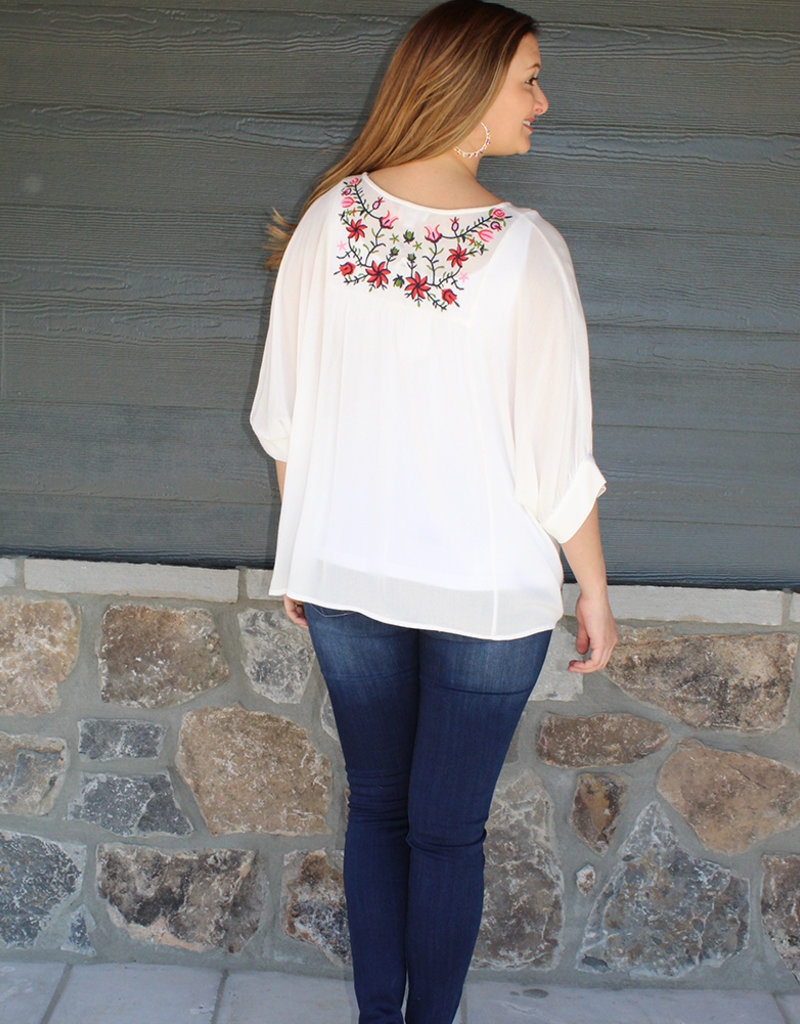 Vince  Embroidered Top