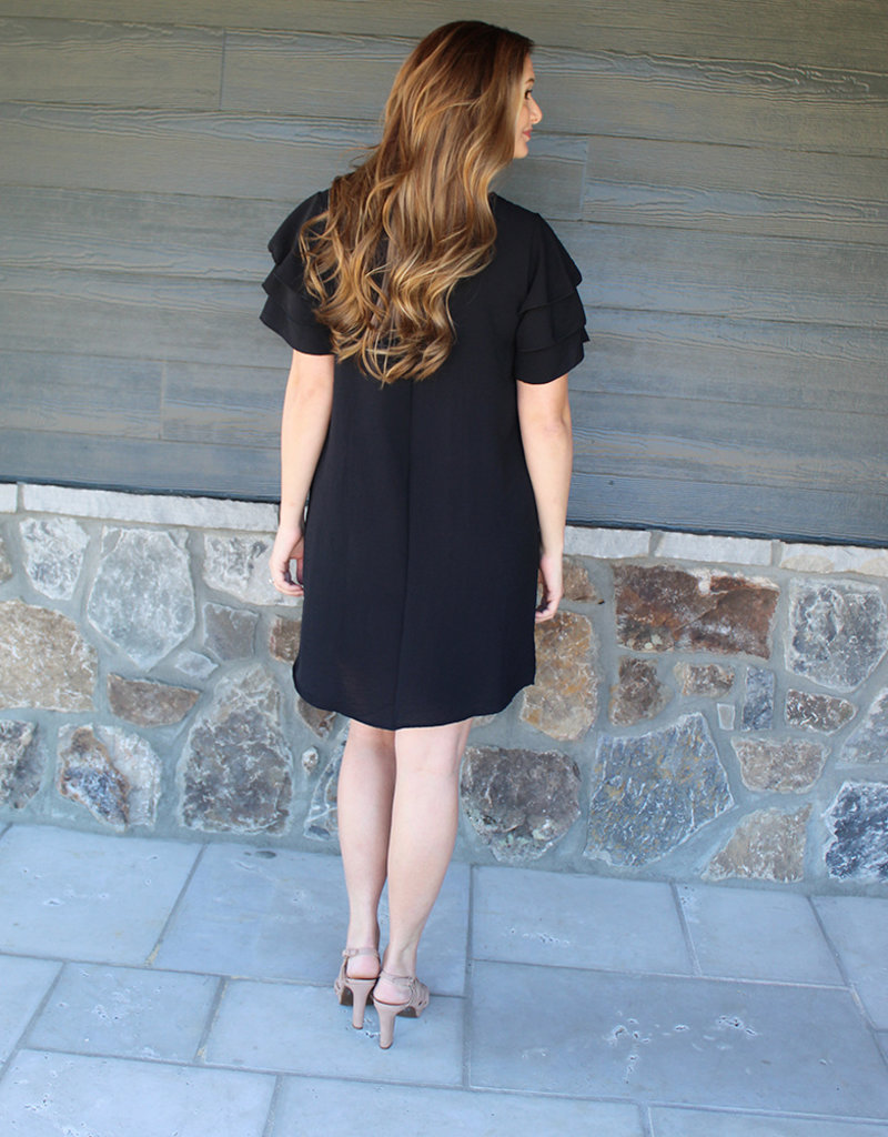 Rue Fluff Sleeve Dress