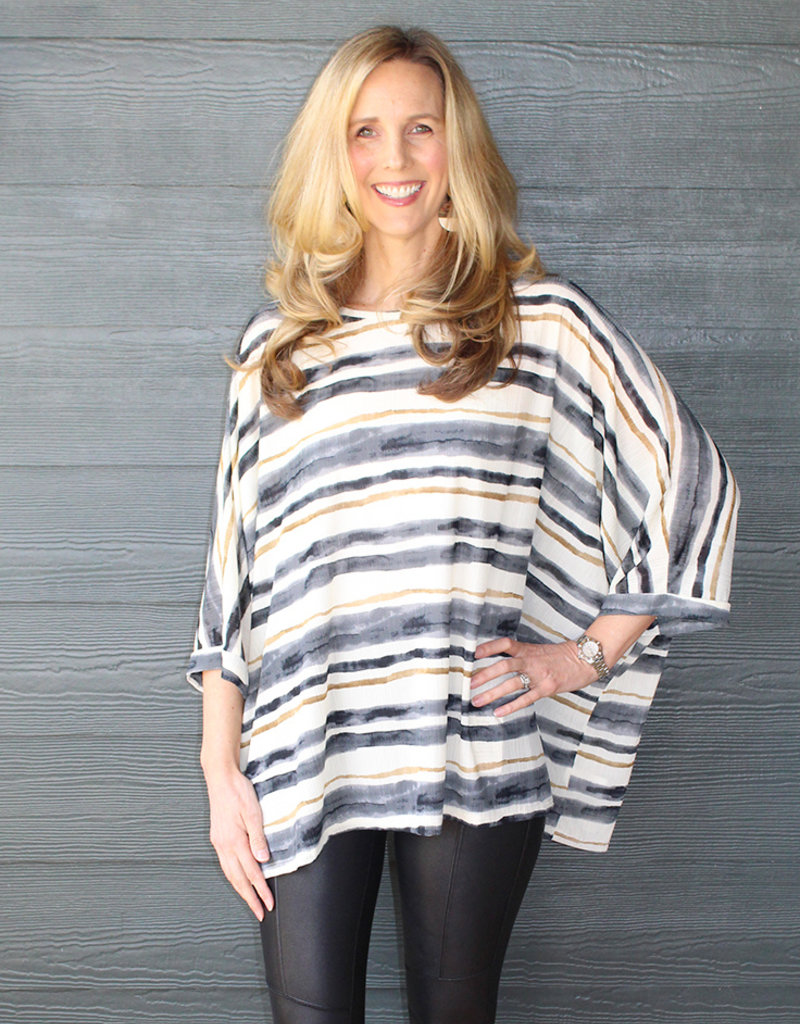 Stripe Flow Top