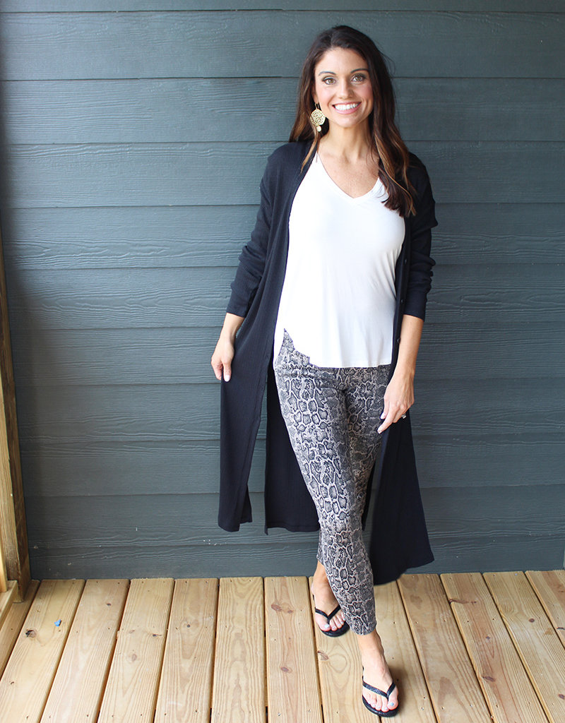 RIBBED DUSTER CARDY