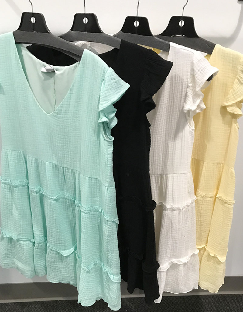 RUFFLE DRESS- 4 colors available