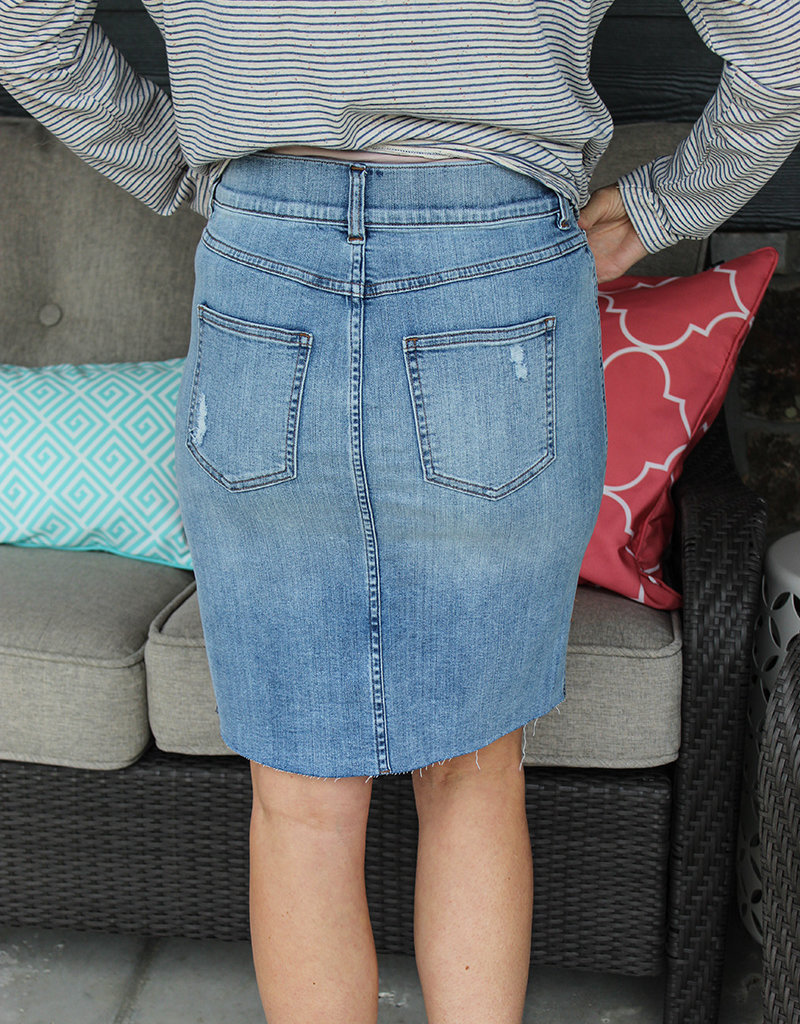 SPANX DISTRESSED SKIRT