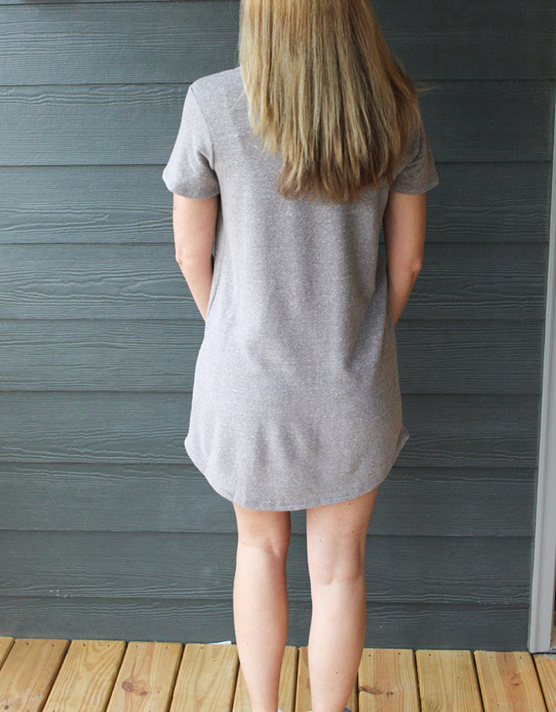 SPLIT NECK DRESS
