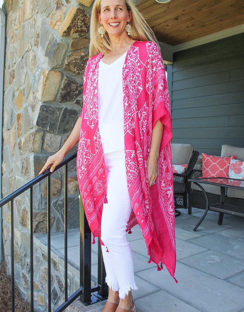 MACY KIMONO- Pink or Red