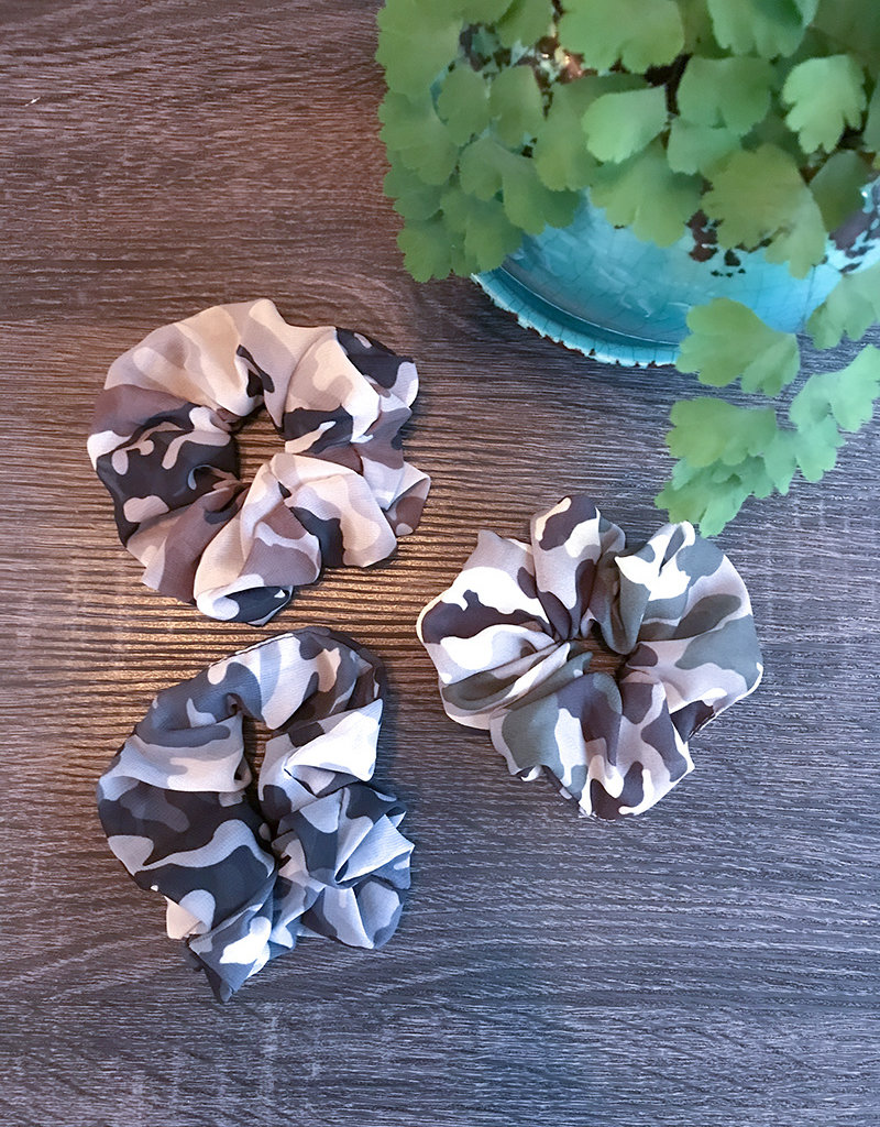 CAMO SCRUNCHIE SET