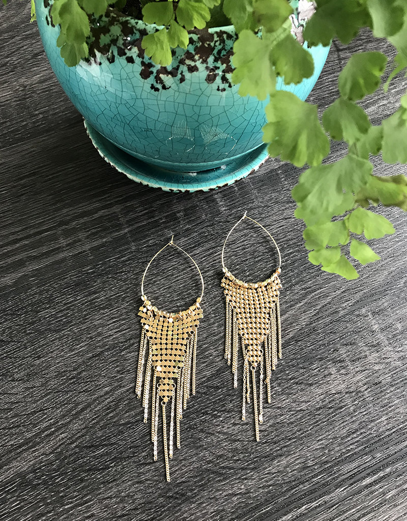 DISCO DROP EARRING- Gold or Silver