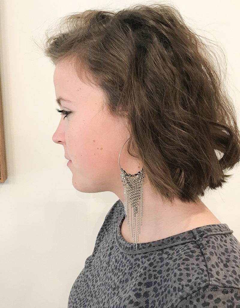 DISCO DROP EARRING- Gold or Silver