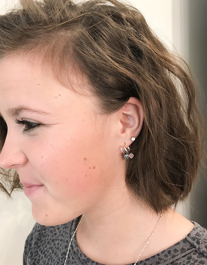 MOON HUGGY EARRING- GOLD OR SILVER