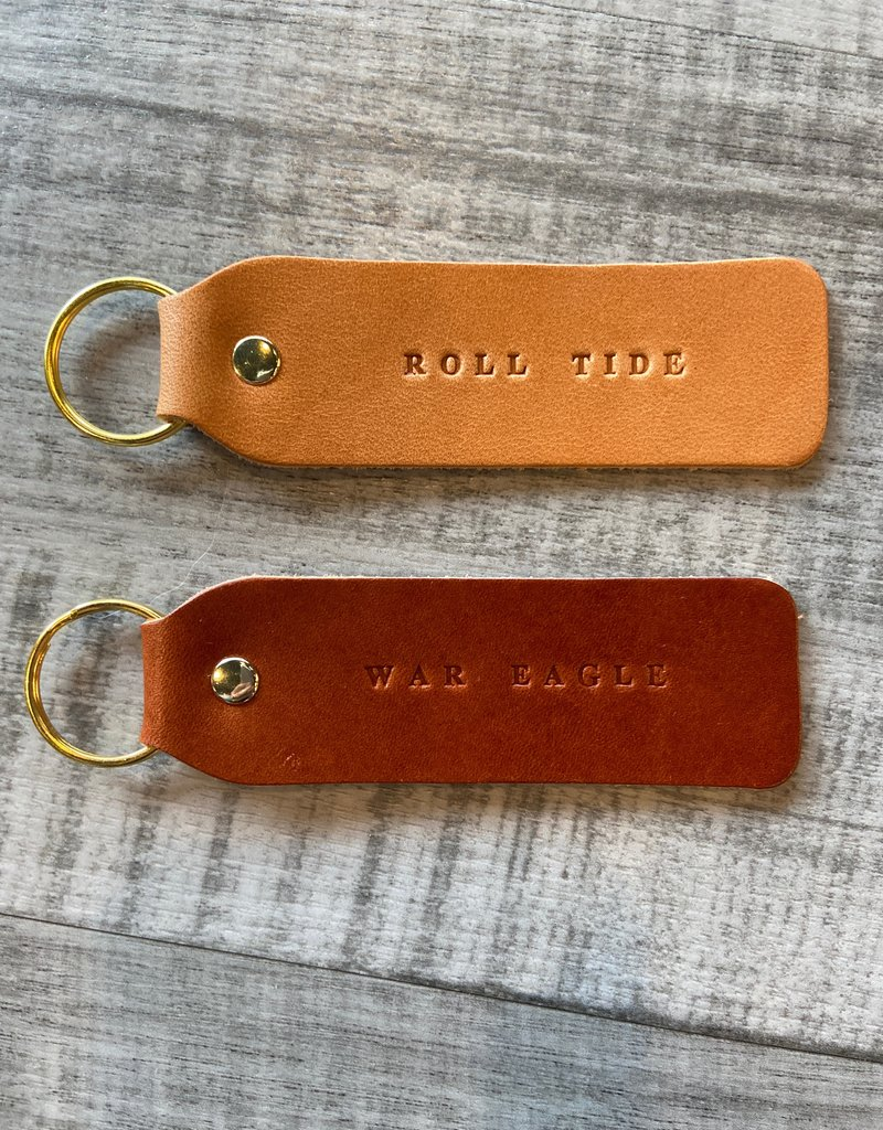 WAR EAGLE FLAT KEY CHAIN-Leather