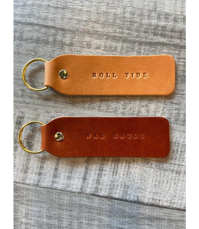 ROLL TIDE FLAT KEYCHAIN- Leather