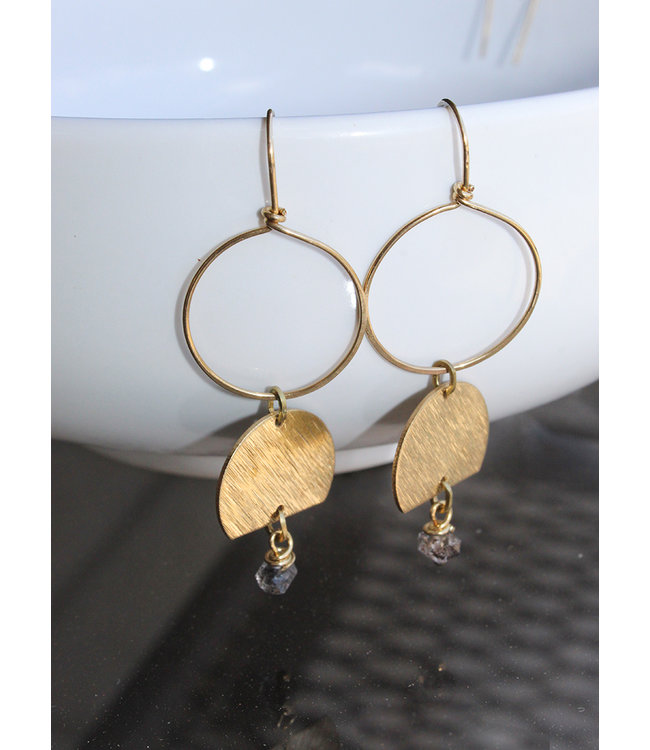 SEMI CIRCLE EARRING