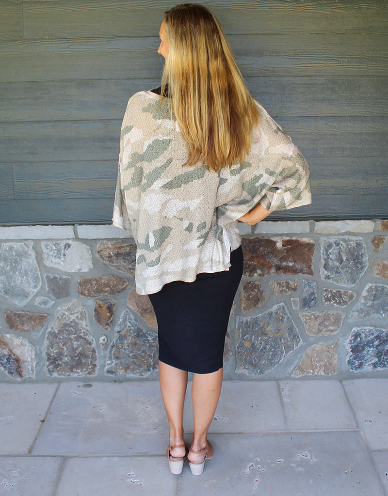 CAMO LIGHTWEIGHT SWEATER