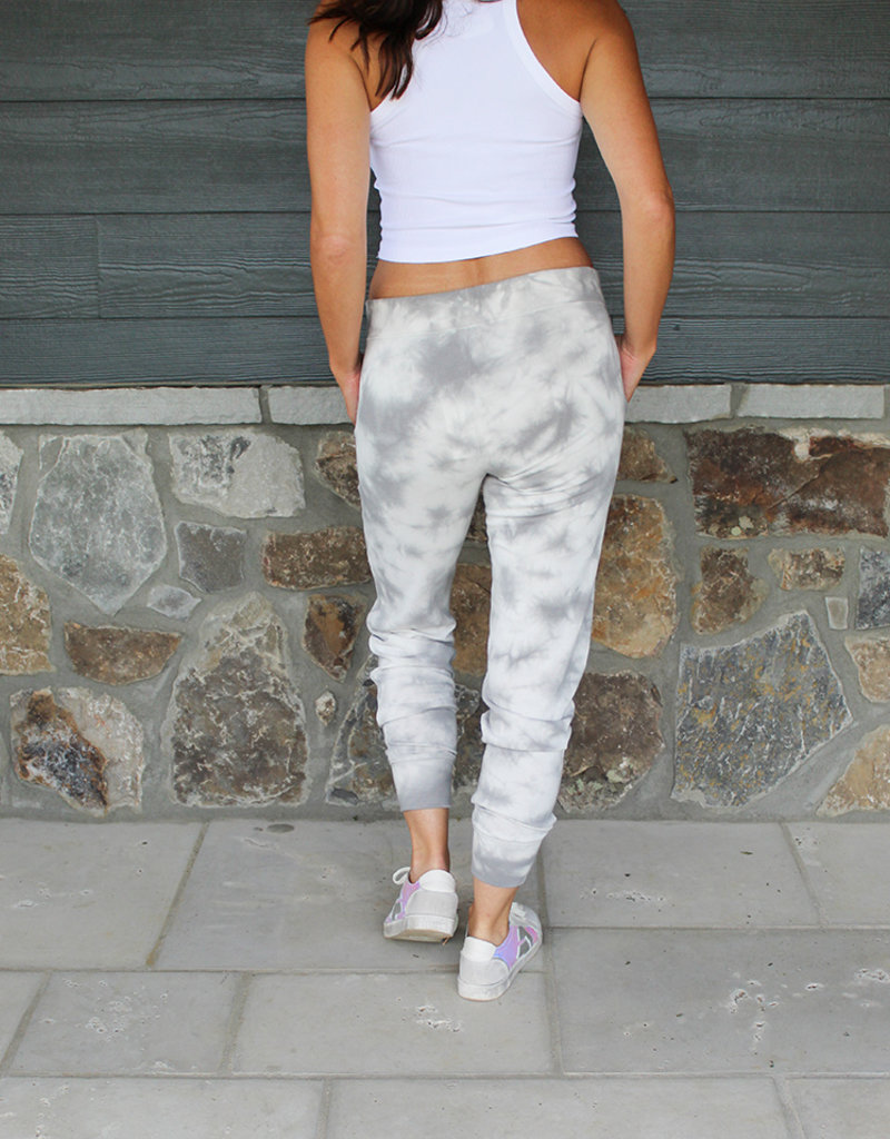 COZY TERRY JOGGER- Grey and Royal