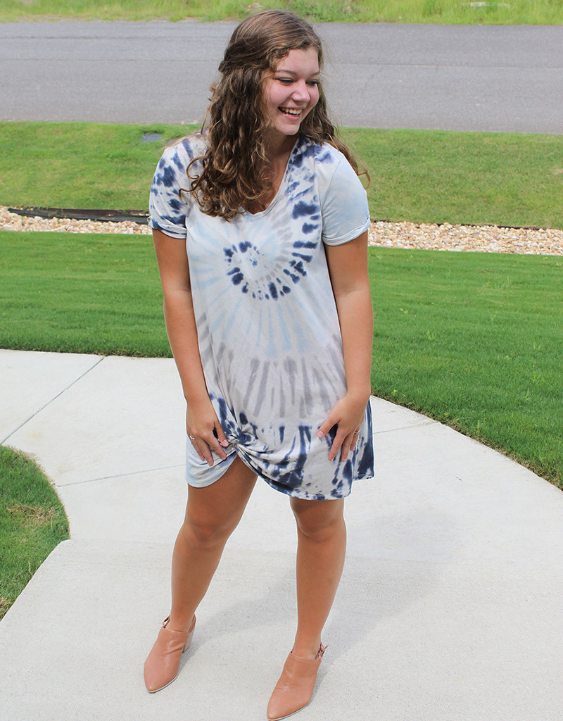 TIE DYE KNOT DRESS