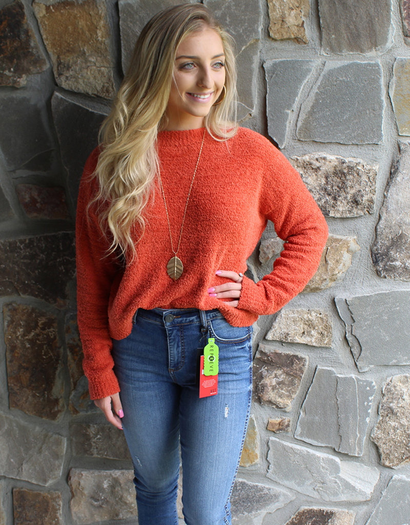 FUZZY SWEATER- 3 Colors