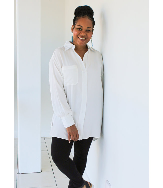 OVERSIZED BUTTON TOP