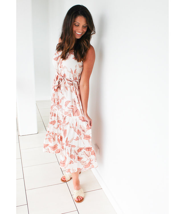 PALMS TIERED DRESS- 2 Colors