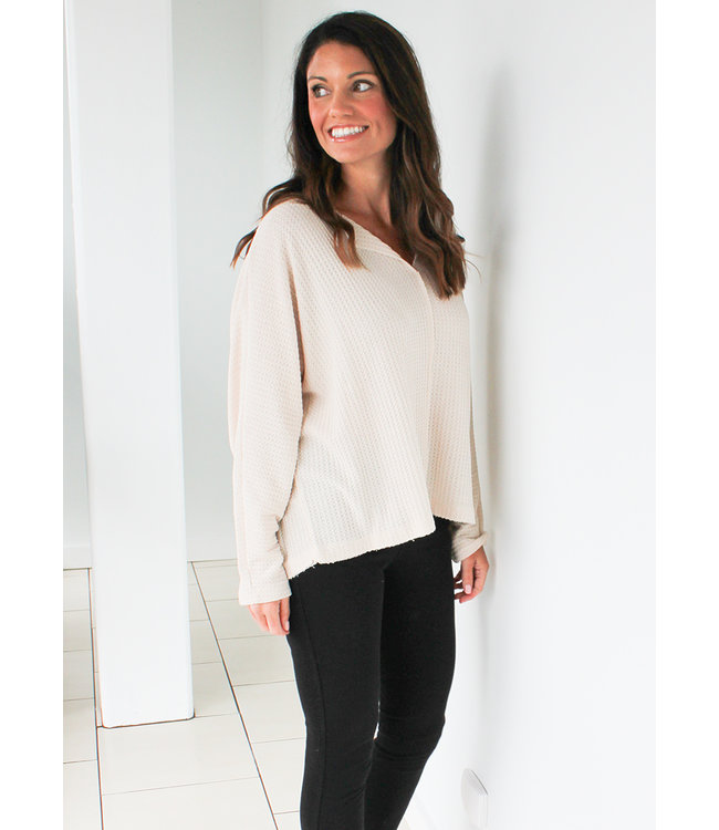 THERMAL OPEN NECK TOP