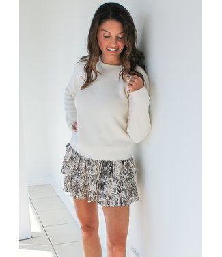 GOLD BUTTON SWEATER