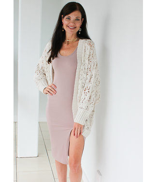 OPEN KNIT COCOON CARDY