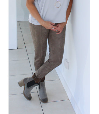 SUEDE SEAMED PANT