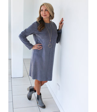 WASHABLE SUEDE DRESS