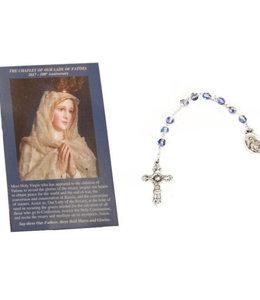 Dizainier de Notre Dame de Fatima et prière en 3 langues