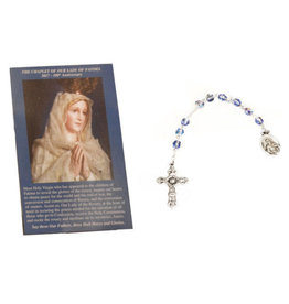 Dizainier de Notre Dame de Fatima enveloppe prière