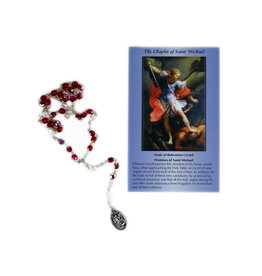 Saint Michael rosary with prayer cards