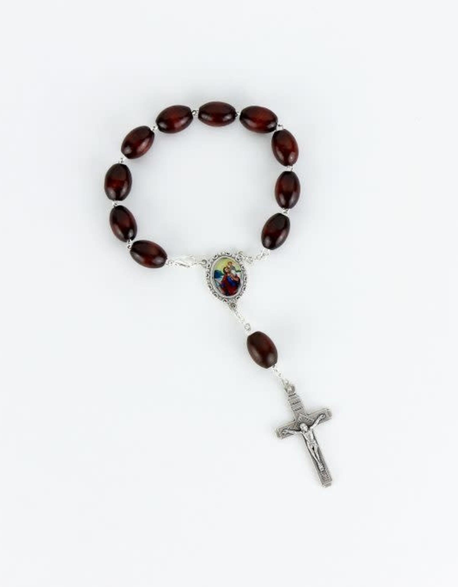 Saint Christopher car rosary