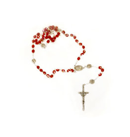 Divine Mercy Iridescent Red Rosary
