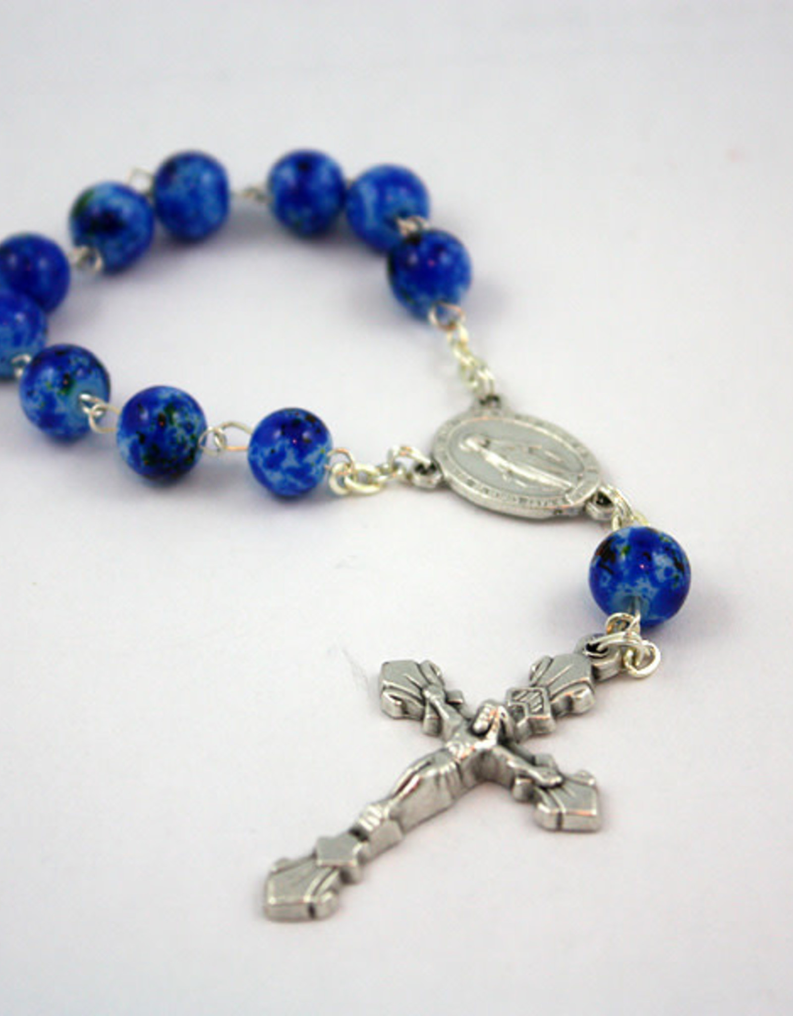 Miraculous Medal Decade Rosary : Blue