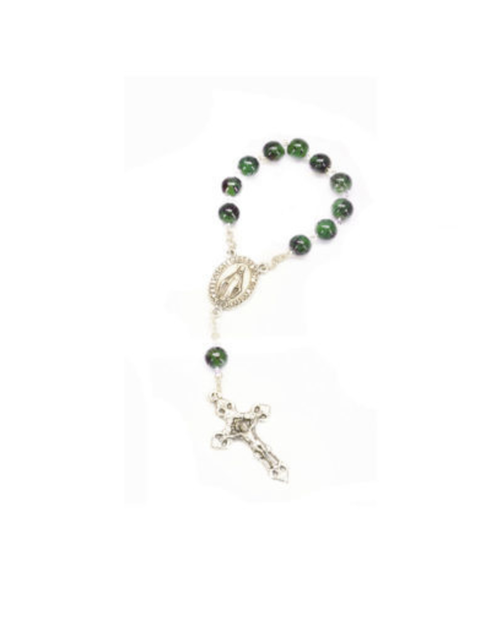 Miraculous Medal Decade Rosary : Green