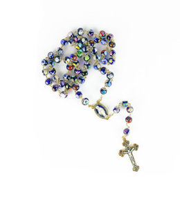 Blue Murano Glass Rosary