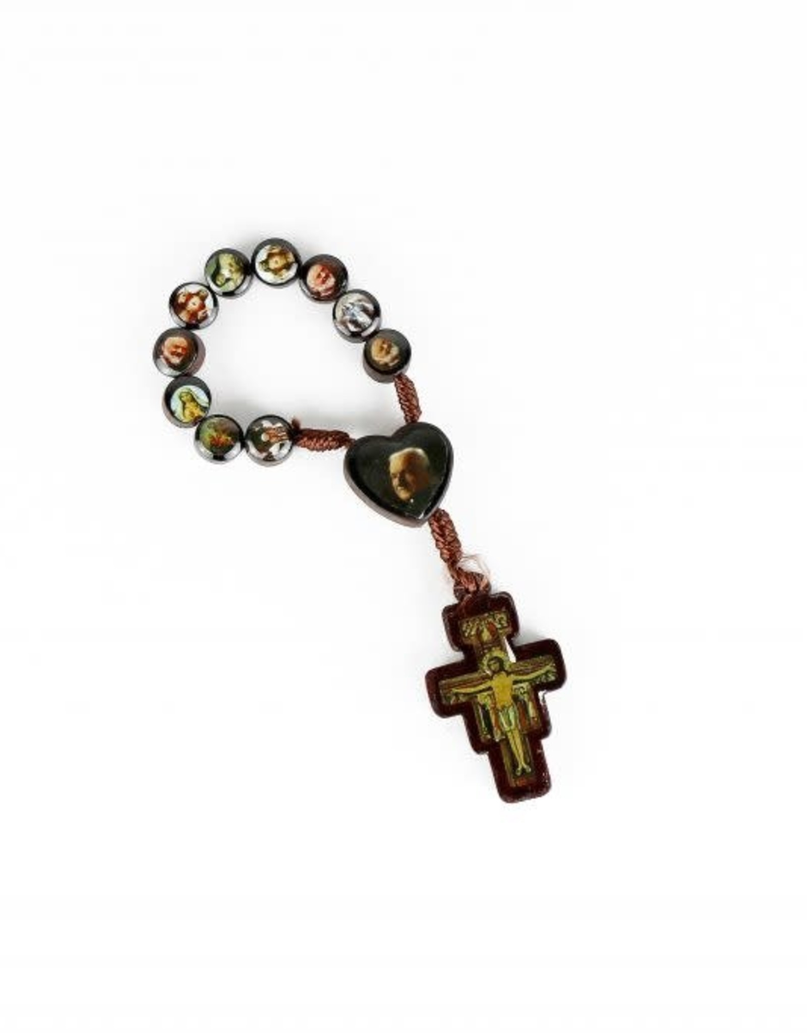 Saint Joseph and Brother André wooden rosary