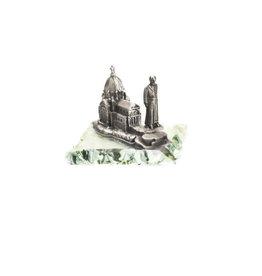 Statue Saint frère André et Oratoire sur vitre