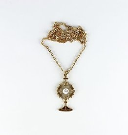 Monstrance Shaped Pendant with chain