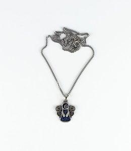 Blue Enamel Angel pendant with chain