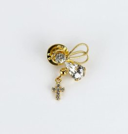 Angel and cross pin
