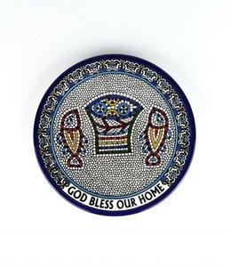Patène en céramique ''God Bless Our Home''