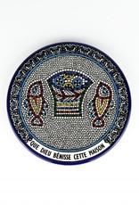 Ceramic Paten ''Que Dieu Bénisse cette Maison'' French