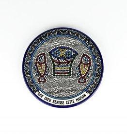 Patène en céramique ''Que Dieu Bénisse cette Maison''