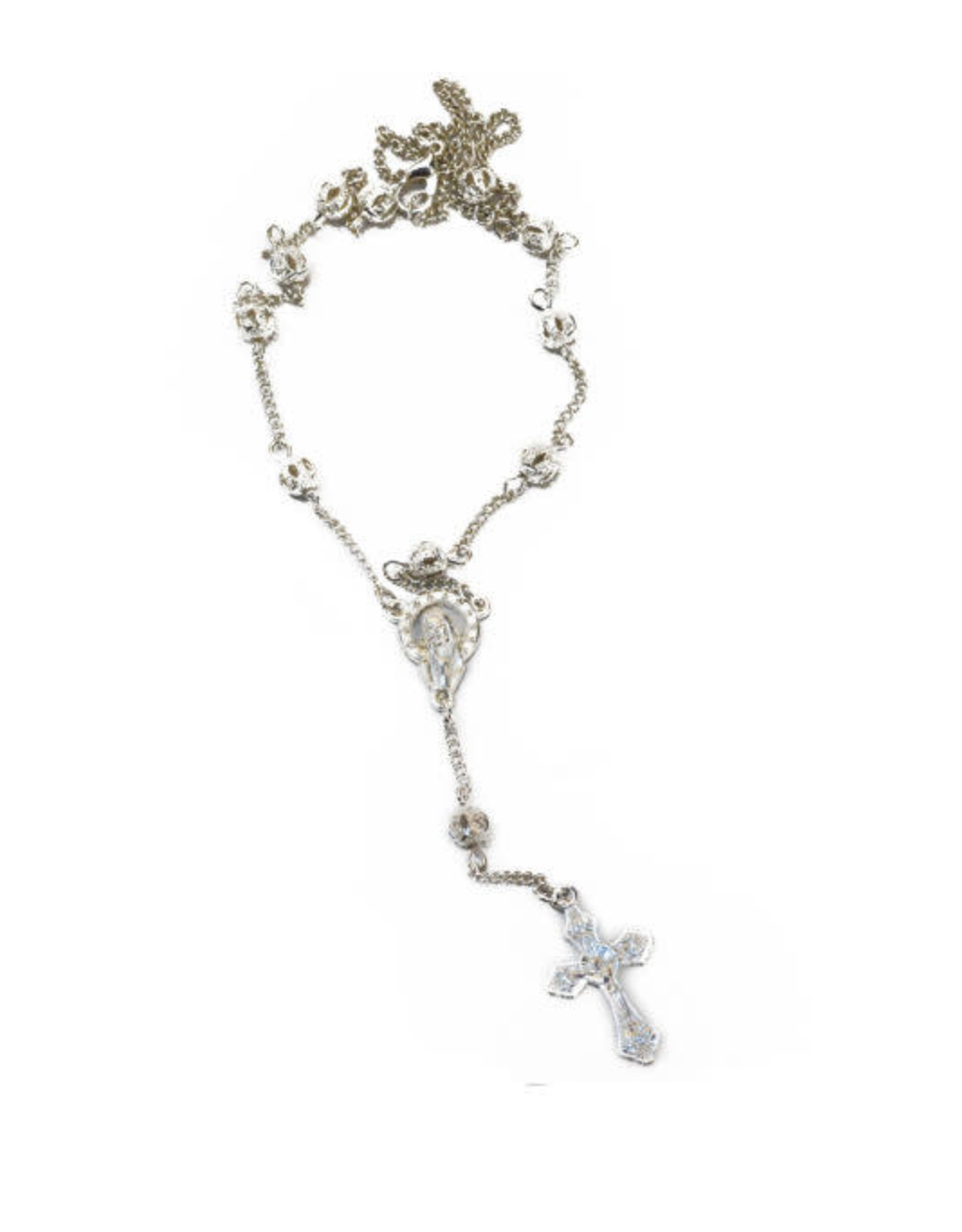 Siver color Rosary Necklace
