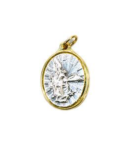 Médaille saint Michel (couleur argent sur or)