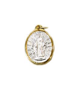 Médaille Vierge Miraculeuse (couleur argent sur or)