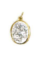 Medal of the Holy Family (silver on gold color)
