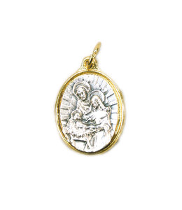 Médaille sainte Famille (couleur argent sur or)