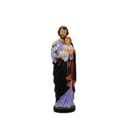 Statue Saint Joseph et Enfant Jésus - 16 cm