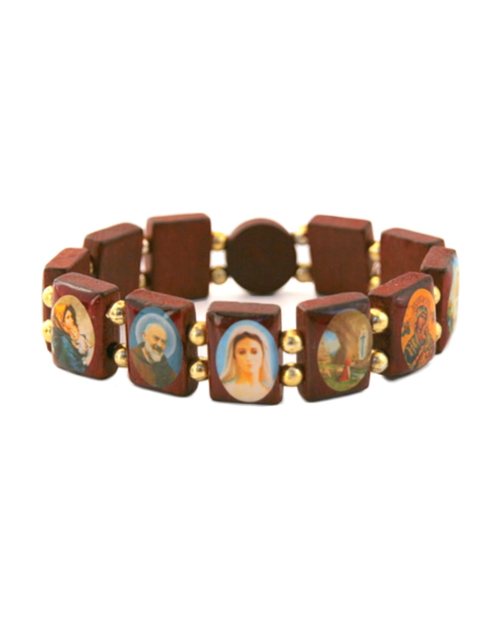 Bracelet des saints en bois