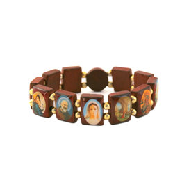 Bracelet of the saints in wood